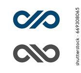 d p letter infinity logo... | Shutterstock .eps vector #669308065