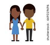 happy couple relationship | Shutterstock .eps vector #669319696