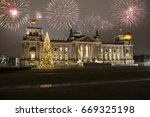 german parliament at new year's ... | Shutterstock . vector #669325198