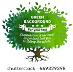 green shrub or little tree with ... | Shutterstock .eps vector #669329398