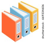 vector isometric folders. | Shutterstock .eps vector #669334606