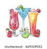stemware of different shapes ... | Shutterstock . vector #669339052