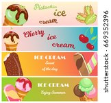 collection of ice cream sweet... | Shutterstock .eps vector #669352396
