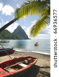 St. Lucia Island View Of Famou...