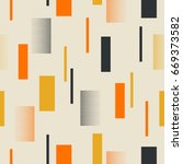 seamless retro pattern with... | Shutterstock .eps vector #669373582