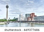 looking at media harbor at... | Shutterstock . vector #669377686