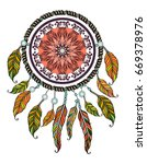 ethnic illustration  tribal... | Shutterstock .eps vector #669378976