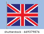 flag of the great britain | Shutterstock .eps vector #669379876