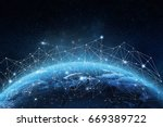 global network concept. 3d... | Shutterstock . vector #669389722
