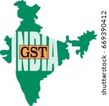 gst word in india graphic map.... | Shutterstock .eps vector #669390412
