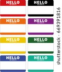 hello my name is tag  isolated... | Shutterstock .eps vector #669391816