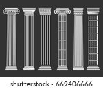Roman And Greek Columns Set....
