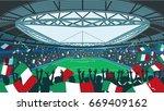 italian soccer stadium | Shutterstock .eps vector #669409162