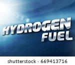 hydrogen fuel car 3d plate...   Shutterstock . vector #669413716