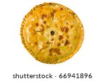 fresh homemade pie isolated on white background - stock photo