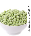 fresh frozen peas in bowl | Shutterstock . vector #66942151