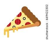 pizza slice. vector illustration   Shutterstock .eps vector #669422302