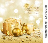 beautiful golden christmas... | Shutterstock .eps vector #66942928