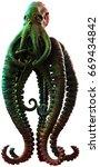 tentacled horror 3d illustration | Shutterstock . vector #669434842