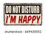 do not disturb i'm happy... | Shutterstock .eps vector #669435052