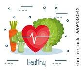 healthy food design | Shutterstock .eps vector #669436042