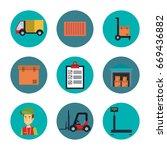 shipping logistics design | Shutterstock .eps vector #669436882