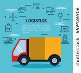shipping logistics design   Shutterstock .eps vector #669436906