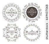 ornamental borders design | Shutterstock .eps vector #669437068
