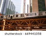 downtown train transportation... | Shutterstock . vector #669441058