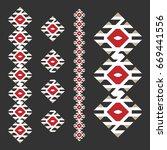 vintage ethnic pattern  serbian ... | Shutterstock .eps vector #669441556