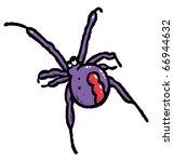 redback spider color vector... | Shutterstock .eps vector #66944632