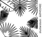 tropical leafs pattern... | Shutterstock .eps vector #669452482