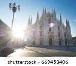Milan  Italy   May 5  Sunrise...