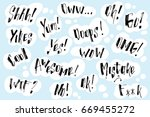 handwritten exclamation and... | Shutterstock .eps vector #669455272