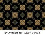 elegant merry christmas or...   Shutterstock . vector #669464416