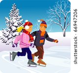 ice skating | Shutterstock .eps vector #66947206