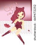 beautiful sexy girls  ... | Shutterstock .eps vector #669472252
