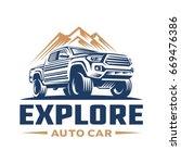 adventure car logo template | Shutterstock .eps vector #669476386