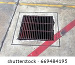 manhole sanitary sewer ditch... | Shutterstock . vector #669484195