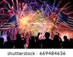 group of people watching... | Shutterstock . vector #669484636
