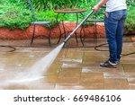 ground water spray outdoor... | Shutterstock . vector #669486106
