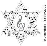 music note background | Shutterstock .eps vector #669492772
