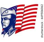 veteran army world war hero... | Shutterstock .eps vector #669506062