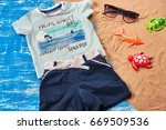 baby child summer stuff to the...   Shutterstock . vector #669509536