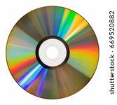 top view of iridescent laser... | Shutterstock . vector #669520882