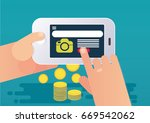 conversion rate concept.... | Shutterstock .eps vector #669542062