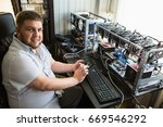 programmer configures the... | Shutterstock . vector #669546292