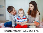 happy family  mother  father...   Shutterstock . vector #669551176