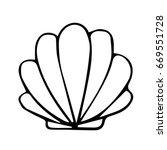sea shell on white background... | Shutterstock .eps vector #669551728