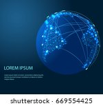 global network connection.... | Shutterstock .eps vector #669554425